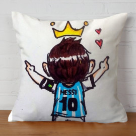 Almohada Doble Cara Messi 3