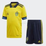 Camiseta Suecia 1ª Equipación 2020 Eurocopa Niño kit