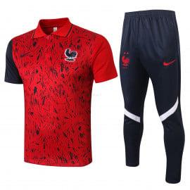 Polo Francia 2020 Kit Rojo Royado