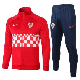 Chandal Croacia 2020 Rojo Blanco