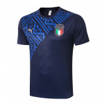Camiseta de Entrenamiento Italia 2020 Cuello Redondo Azul Marino
