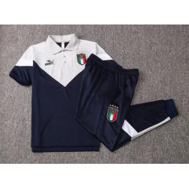Polo Italia 2020 Kit Azul Oscuro/Gris Claro