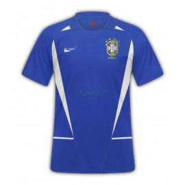 Camiseta Brasil 2ª Equipación Retro 2002 Azul