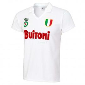 Camiseta Napoli 2ª Equipación Retro 1987/1988 Blanco
