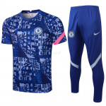 Camiseta de Entrenamiento Chelsea FC 2021/2022 Kit Estampado Azul