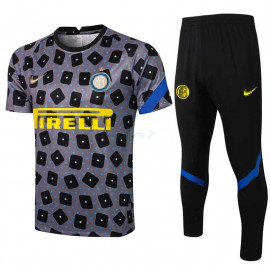 Camiseta de Entrenamiento Inter De Milan 2021/2022 Kit Estampado Gris