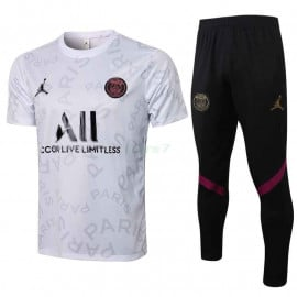 Camiseta de Entrenamiento PSG 2021/2022 Kit Letra Estampado Blanco
