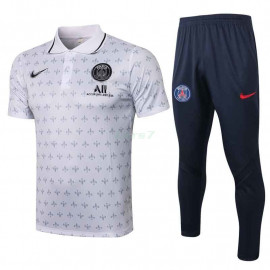 Polo PSG 2021/2022 Kit Letra Estampado Blanco