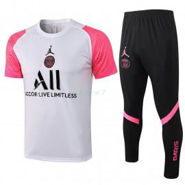 Camiseta de Entrenamiento PSG 2021/2022 Kit Blanco/Rosa