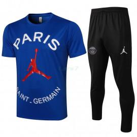 Camiseta de Entrenamiento PSG 2021/2022 Jordan Kit Azul
