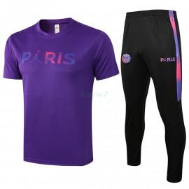 Camiseta de Entrenamiento PSG 2021/2022 Kit Púrpura Marca Polícromo