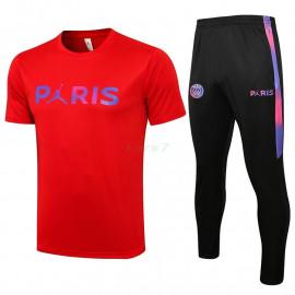 Camiseta de Entrenamiento PSG 2021/2022 Kit Rojo Marca Polícromo