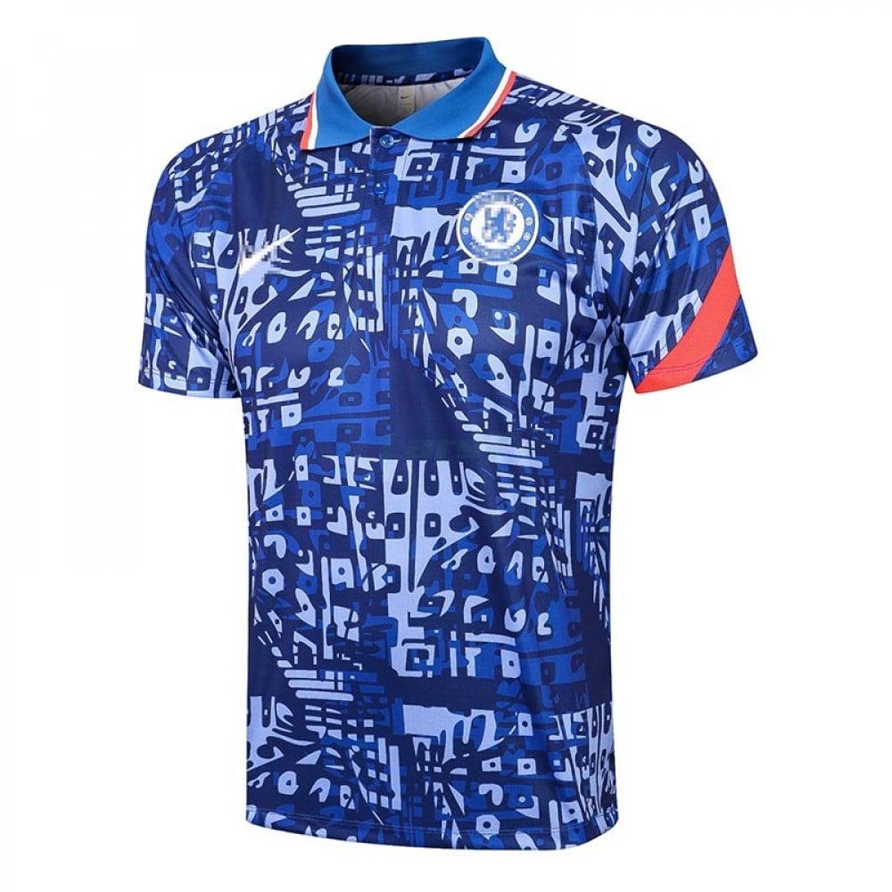 Polo Chelsea FC 2021/2022 Estampado Azul