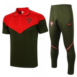 Polo Portugal 2021/2022 Kit Rojo/Negro
