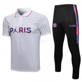 Polo PSG 2021/2022 Kit Blanco Marca Polícromo