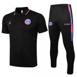 Polo PSG 2021/2022 Kit Negro
