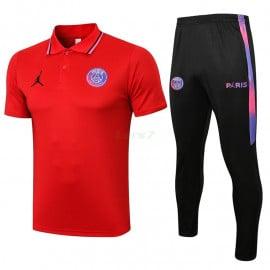 Polo PSG 2021/2022 Kit Rojo