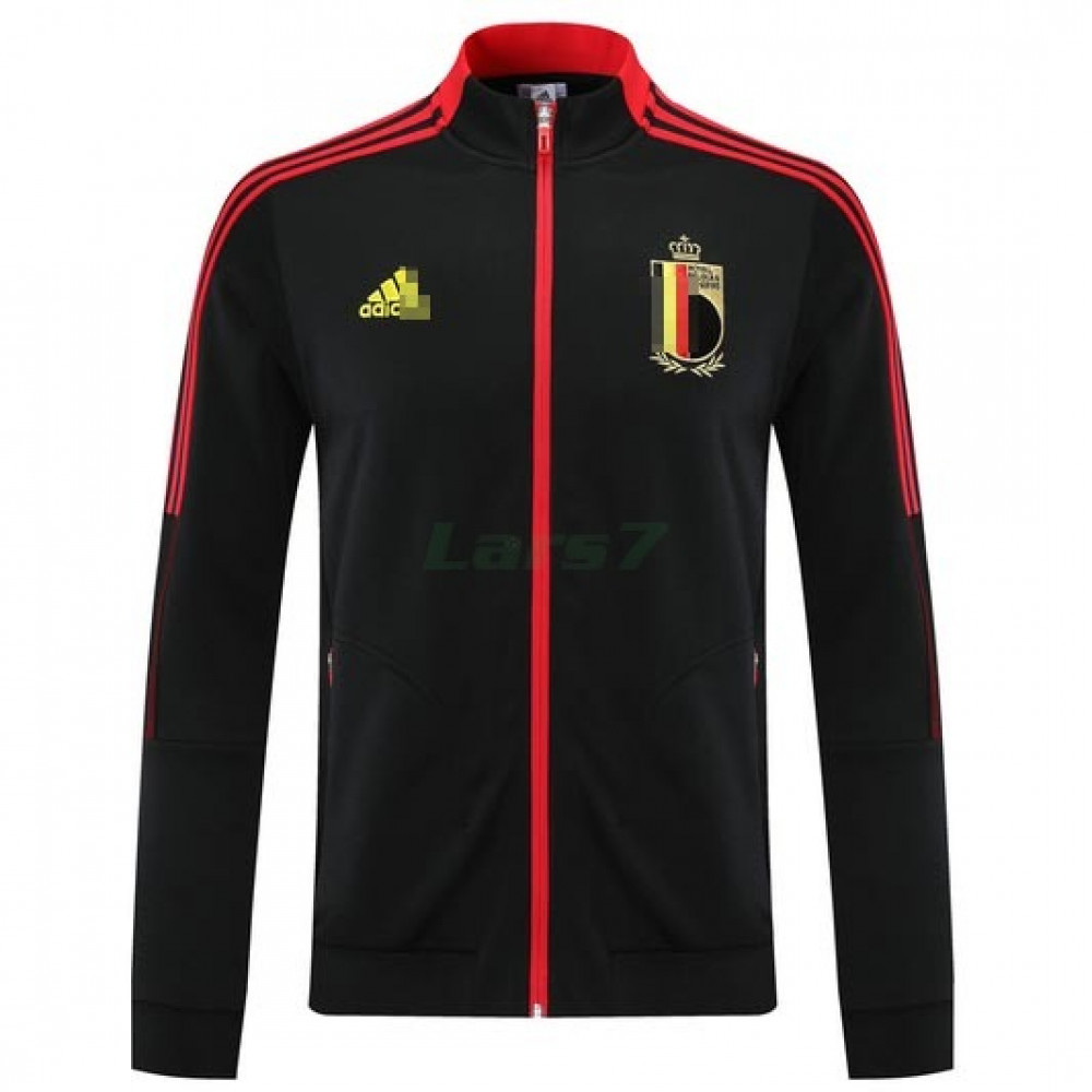 Chaqueta Bélgica 2021/2022 Cuello Alto Negro/Rojo