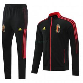 Chandal Bélgica 2021/2022 Cuello Alto Negro/Rojo