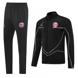 Chaqueta PSG 2021/2022 Cuello Alto Rosa Marca Negro