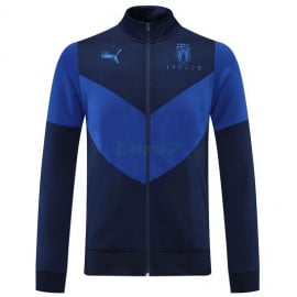 Chaqueta Italia 2021 Cuello Alto Negro/Azul