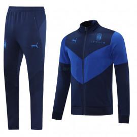 Chandal Italia 2021 Cuello Alto Negro/Azul