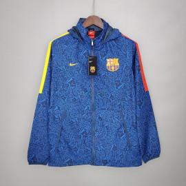 Cortavientos Barselona 2021/2022 Con Capucha Azul
