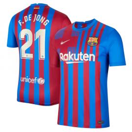 Camiseta F. De Jong 21 Barcelona 1ª Equipación 2021/2022