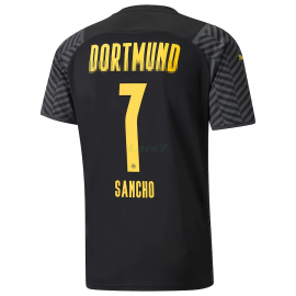 Camiseta Sancho 7 Borussia Dortmund 2ª Equipación 2021/2022