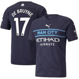 Camiseta De Bruyne 17 Manchester City 3ª Equipación 2021/2022