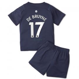 Camiseta De Bruyne 17 Manchester City 3ª Equipación 2021/2022 Niño Kit