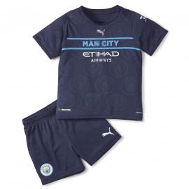 Camiseta Manchester City 3ª Equipación 2021/2022 Niño Kit