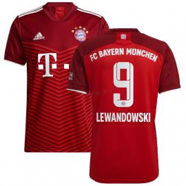 Camiseta Lewandowski 9 Bayern Múnich 1ª Equipación 2021/2022