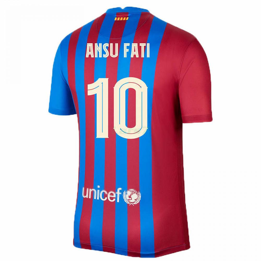 Camiseta Ansu Fati 10 Barcelona 1ª Equipación 2021/2022