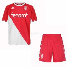 Camiseta AS Monaco 1ª Equipación 2021/2022 Niño Kit