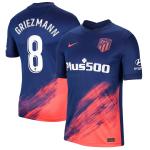 Camiseta Griezmann 8 Atlético de Madrid 2ª Equipación 2021/2022