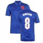 Camiseta Henderson 8 Inglaterra 2ª Equipación 2021