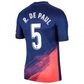 Camiseta R. De Paul 5 Atlético de Madrid 2ª Equipación 2021/2022