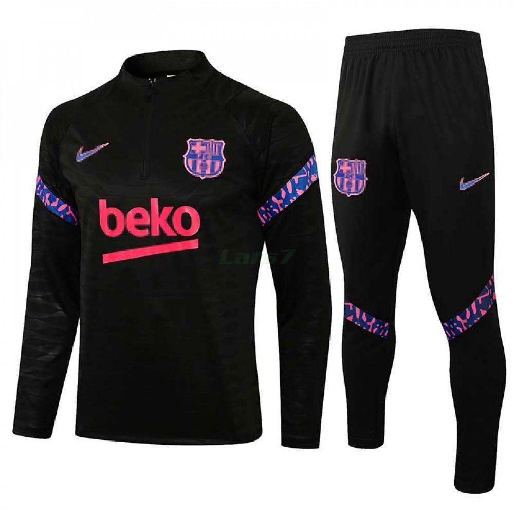 Sudadera De Entrenamiento Barcelona 2021/2022 Kit Negro