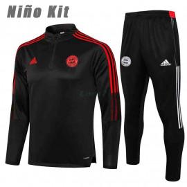 Sudadera De Entrenamiento Bayern Munich 2021/2022 Niño Kit Gris Oscuro