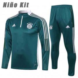 Sudadera De Entrenamiento Bayern Munich 2021/2022 Niño Kit Verde Oscuro