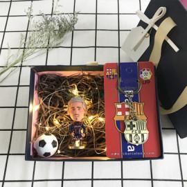 Conjunto de Muñeco tres piezas regalo Fútbol Beckham/Mbappé
